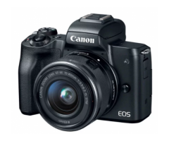 Canon EOS M50 Black + EF-M 15-45mm IS STM Lens Black