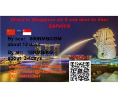 Provide logistics service from China to Singapore