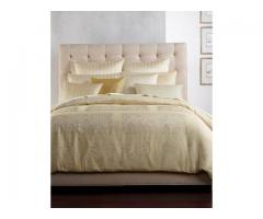 Hotel Collection Patina FULL / QUEEN Duvet Cover Gold with GORGEOUS Bed brand new