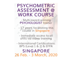 Psychometric Assessment at Work Public Course BPS Level 1 & 2  - Singapore