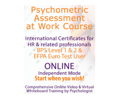 Online Psychometric Assessment at Work Course BPS Level 1 & 2