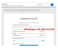 Krisflyer miles for sale