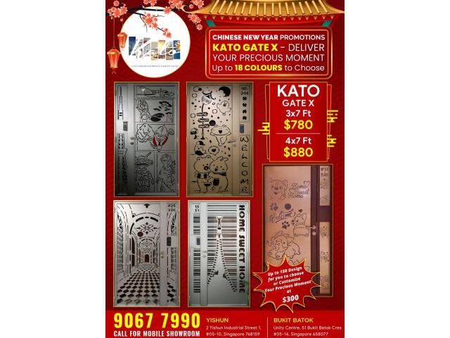 CNY PROMOTIONS ON HDB GATE, 150+ DESIGNS OF KATO GATE FROM $780 HP 98440884