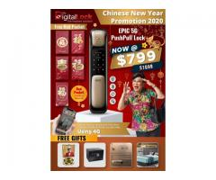 CHINESE NEW YEAR PROMOTIONS FROM MY DIGITAL LOCK, GET EPIC 5G PUSHPULL LOCK