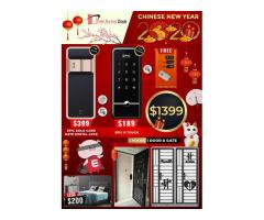 CHINESE NEW YEAR PROMOTIONS IN EPIC DIGITAL LOCK, GATE AND DOOR. GET ALL 3 AT AN OFFER