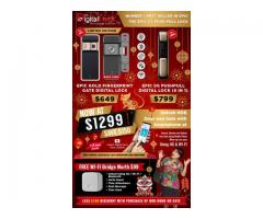CHINESE NEW YEAR OFFERS ON EPIC DIGITAL LOCKS NOW AT $1299 AND SAVE $150