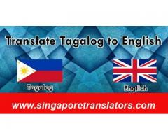 Cheap Tagalog to English Translation Services in Singapore:Budget Friendly