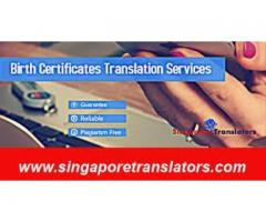 Certified Birth Certificate Translation in Singapore : Notarized