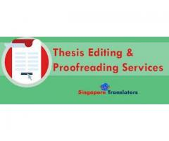 Best Thesis Editing and Proofreading Services In Singapore