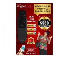 KEYWE PULSE Push Pull Digital Lock Promotion at $580 ONLY. Unlock using Smart Phone