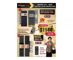 EPIC 5G Gold Gate Digital Lock and Samsung SHP -DP708 Door Digital Lock at $1339 ONLY.