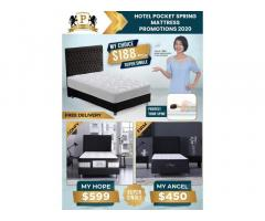 Hotel Quality Pocket Spring Super Single Mattress $188 Only
