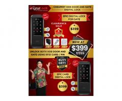 Digital Lock for HDB Gate and Door $399 ONLY. Call 98440884