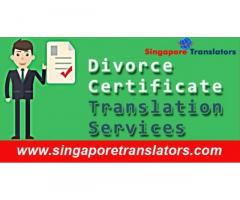 Divorce Certificate Translation Services In Singapore