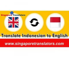 Indonesian To  English Translation Services In Singapore