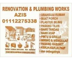 plumber and renovation 01112275338 azis taman melati