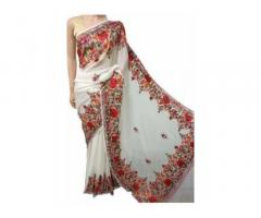 Buy the best Aari Work Saree in India | Luxurionworld