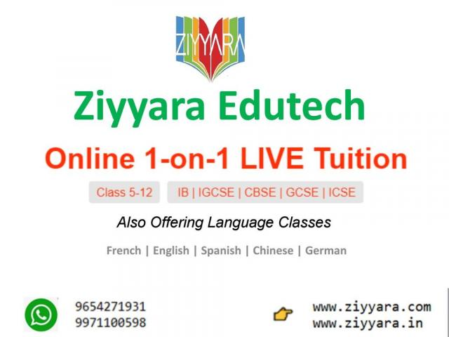 One-To-One Online Live Interactive Tuition